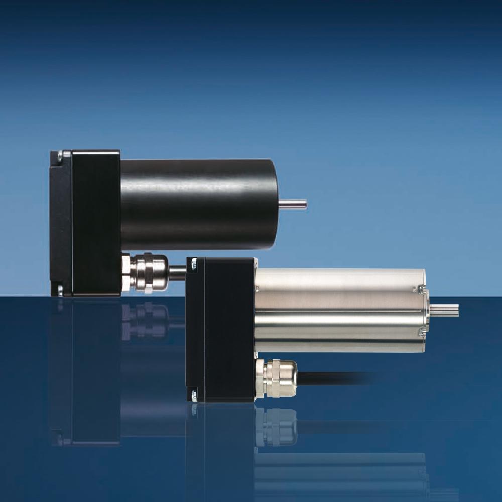 Servoantriebe mit integriertem Controllerbaustein und Anschlusssteckern für schnelle Montage. Bild: Faulhaber