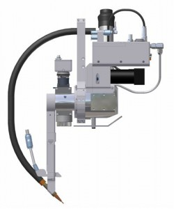 Der Sinusmotor mit integriertem Controller sorgt für die exakte Nachführung des Schweißkopfes. Bild: Scansonic