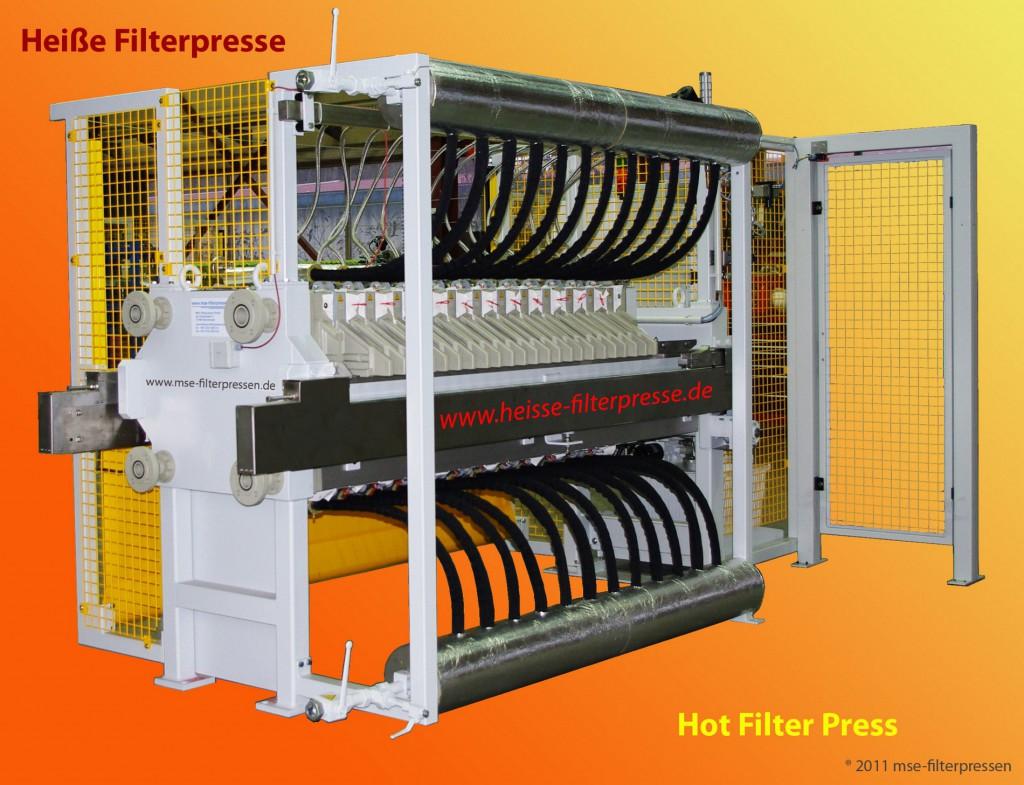 """Die """"All inklusive"""" Filter-Presse filtert und trocknet in einem Arbeitsgang. Bild: MSE"""