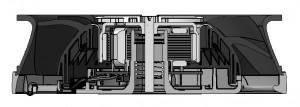 Bild 4 Neue Fertigungsmethode erlauben geringste Spaltmaße zwischen Läufer und Gehäuse. Dadurch werden das Betriebsgeräusch und die Leistungsaufnahme gleichermaßen reduziert.