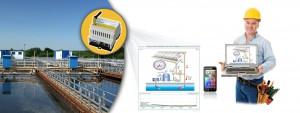 In Wasserwerken, Kläranlagen oder Pumpstationen kann das Fernüberwachungssystem seine Stärken ausspielen, z.B. bei Feuchte-, CO2- oder Füllstandsmessung sowie zur PH-Wert-Bestimmung oder zum Übertragen von Störmeldungen. Bild: HMS