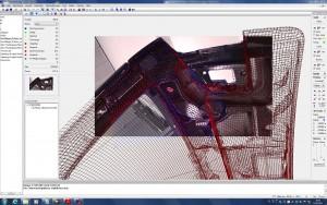 Messvorbereitung: Messgitter und Videobild werden abgeglichen Bild: Polytec