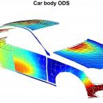 Schwingungsmessung an einer Fahrzeugkarosserie mit 1094 Messpunkten Bild: Polytec