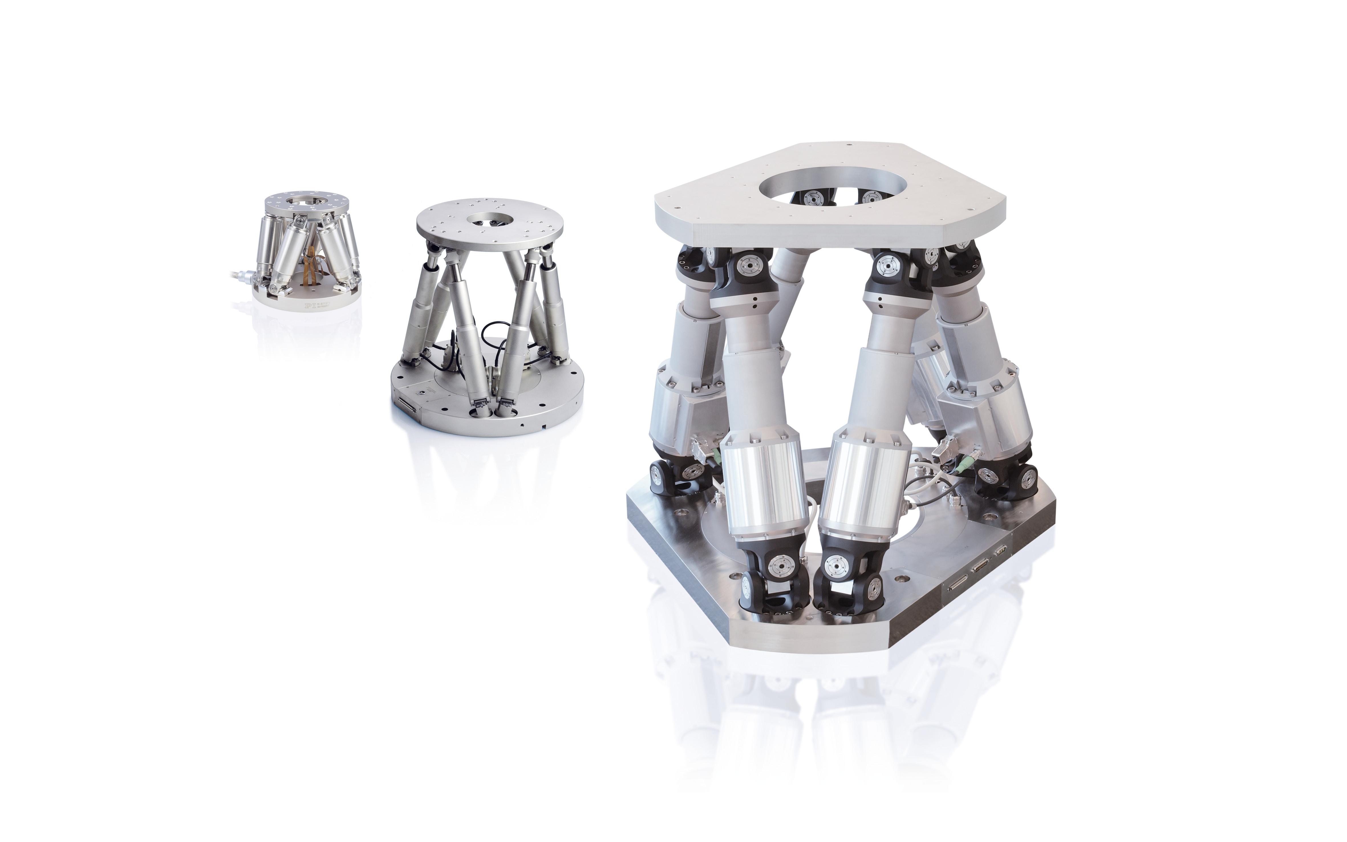 Hexapoden gibt es unterschiedlichen Baugrößen und mit verschiedenen Antriebsprinzipien Bild: PI