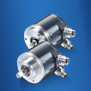Der Multiturn-Absolutwertgeber GXP5W mit Vollwelle und Klemm- oder Servoflansch unterstützt CANopen Lift. Bild: Baumer