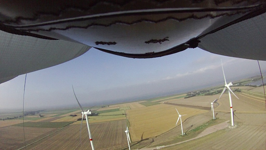 Vogelperspektive: der Blick per Kamera von oben aus dem Kite Bild: Faulhaber