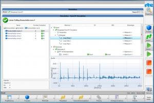 Screenshot vom Testablauf Bild: rte