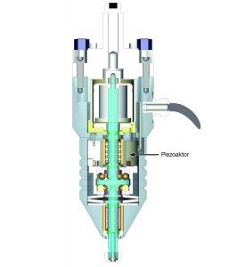 In der Vibrationsspindel ließ sich der Piezoaktor platzsparend integrieren Bild: Fraunhofer ICT-IMM