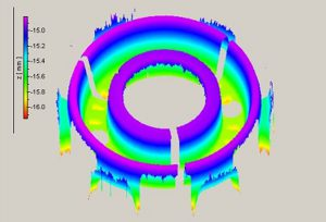 3D-Profil der Flächen im Kolbeninnenraum Bild: Polytec