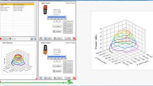 Feinausrichtung für die Faseranordnung. Der Lichtdurchsatz wird gemessen und über Scanalgorithmen optimiert. Bild: PI miCos