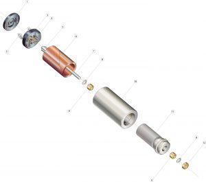 Aufbau der DC-Kleinstmotoren Bild: Faulhaber