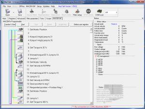 Die übersichtliche grafische Darstellung der MacTalk Software erlaubt eine schnelle Einarbeitung Bild: JVL