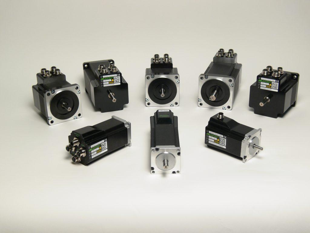 Moderne Schrittmotorenfamilie mit integriertem Controller und Busanschluss Bild: JVL