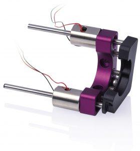 Stabantrieb mit piezoelektrischem Stick-Slip-Antrieb. Das Antriebsprinzip lässt sich aber je nach Anwendung modifizieren. Bild: PI