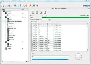 Screenshot Kickstart-Tool: Das Menü erlaubt schnelle Parameterzusammenstellung per Mausklick. Bild: ebm-papst