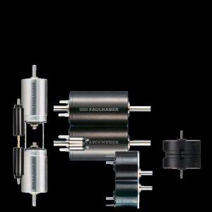 """Das """"Herz"""" des Roboters: Edelmetallkommutierter DC-Kleinstmotor, Stirnradgetriebe und hochauflösender Encoder als Kompakteinheit. Bild: FAULHABER"""