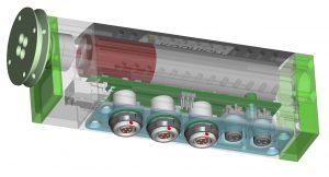 Mikro-Aktuator für den Test von Autotüren. Bild: Kübrich
