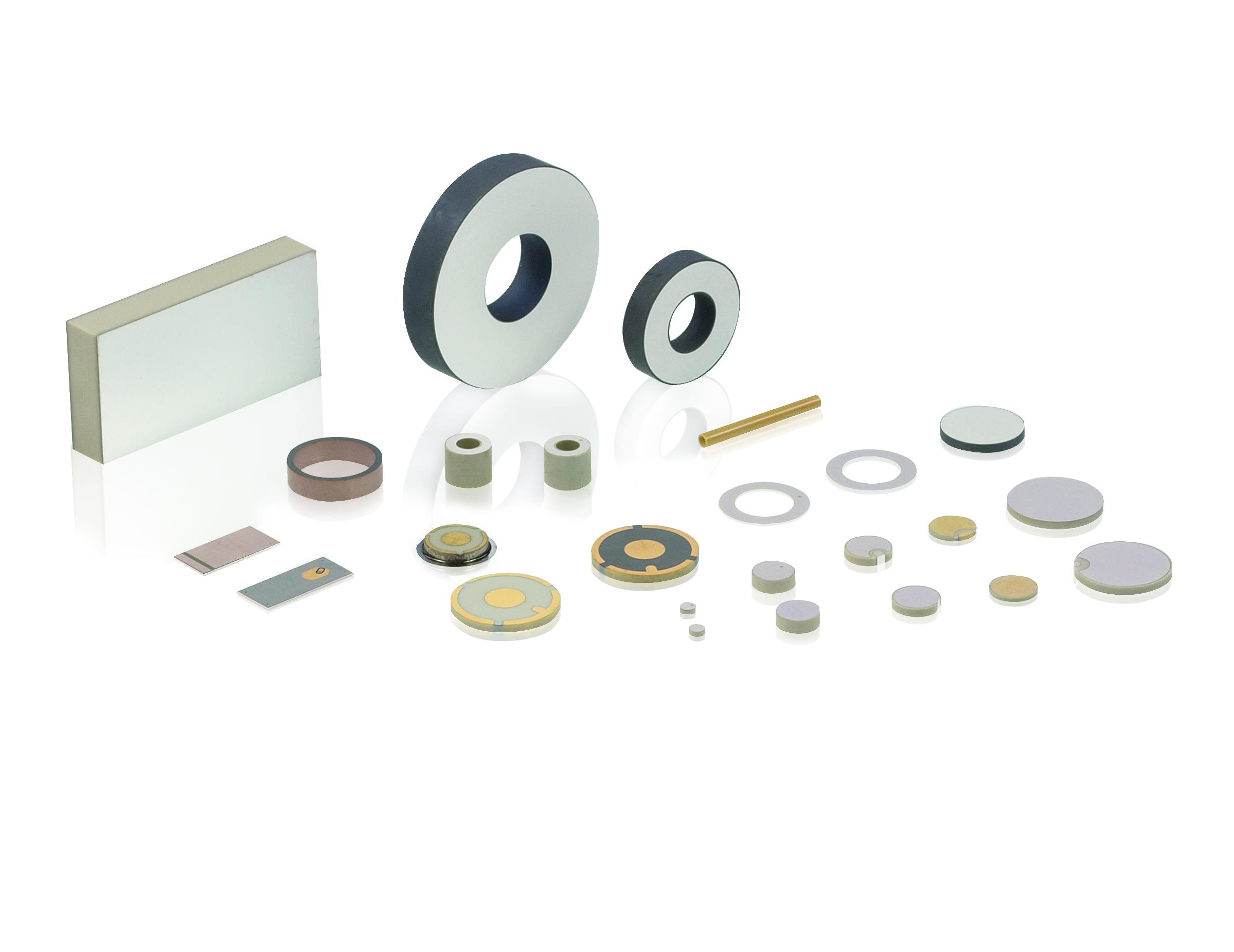 Piezoelemente sind in unterschiedlichen Größen, Materialien und für unterschiedliche Temperaturbereiche realisierbar. So ist eine optimale Anpassung an die jeweilige Anwendung möglich. Bild: PI Ceramic