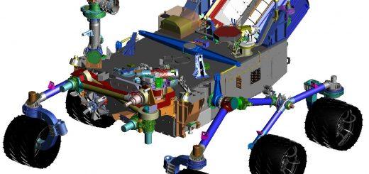 Das CheMin-Spektrometer für chemische und mineralogische Untersuchungen im Mars Rover: ausgestattet mit Piezoaktoren von PI Ceramic. Bild: NASA