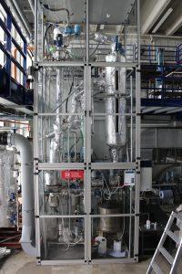 Versuchsstand mit Glattrohrkondensator an der TU Braunschweig. Bild: TU Braunschweig
