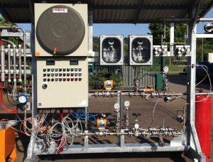 Im explosionsgeschützten Steuerschrank (EEx d) ist die Mess- und Steuerungstechnik untergebracht. Bild: EET Umwelt- und Gastechnik GmbH