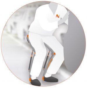Ein Gelenk auf Kniehöhe sorgt für Beweglichkeit. Bild: Noonee