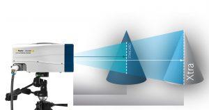 Höhere optische Empfindlichkeit bedeutet größeren Messabstand (Messkopf-Objekt) beziehungsweise einen größeren Scanbereich. Große Objekte müssen dann nicht umpositioniert werden. Bild: Polytec