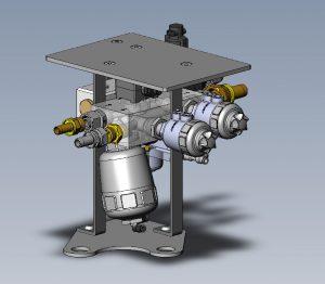 Kompakte Systemlösung zum Regeln und Überwachen von Kühlmittelkreisläufen in Schweißapplikationen. Bild: Bürkert