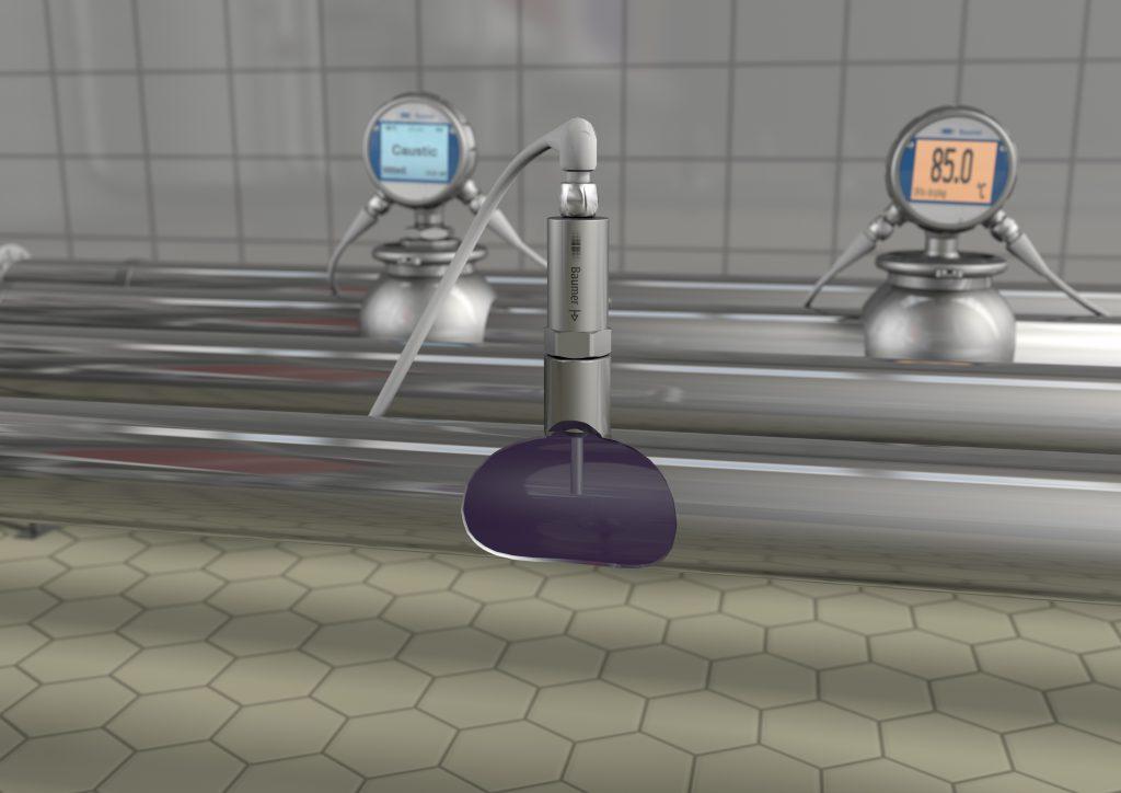 Die FlexFlow Strömungs- und Temperatursensoren kontrollieren über den ganzen CIP-Zyklus hinweg die vordefinierte Fließgeschwindigkeit und Temperatur der Reinigungsmittel. Das erhöht die Effizienz, gewährleistet die geforderte Reinigungsqualität und garantiert die Lebensmittelsicherheit. Bild: Baumer