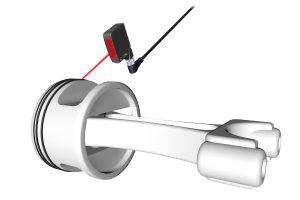 Der hochpräzisen Lasertaster BOS 21M HPL besticht durch seine hohe Auflösung und umfangreiche Service- und Diagnosefunktionen. Bild: Balluff