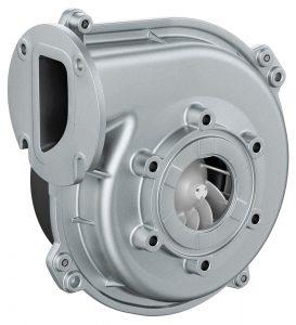 Das VG 100 Gasgebläse arbeitet mit einer Modulation von mehr als 1:10 im Bereich 3 bis 50 kW. Bild: ebm-papst