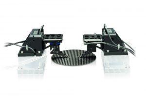 Dreiachsiges Justagesystem für Anwendungen im Bereich der Faserjustage, die keine Drehbewegungen erfordern. Bild: PI