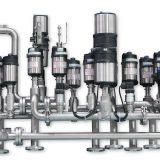 Komplexe Knotenlösung für die Steuerung unterschiedlicher Fluide wie Gas, Dampf, Wasser und Spülmittel etc. Bild: Bürkert