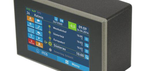 Die IVU.box, ein robuster und bedienerfreundlicher Bordrechner für Busse und Bahnen, übernimmt das Flottenmanagement. Bild: IVU