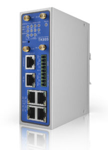 Der Router TK815L-EXW mit Dual SIM lässt sich als WLAN Access Point bzw. Client nutzen, ist vibrationsfest und eignet sich dank E1-Zertifizierung für den Einsatz in öffentlichen Verkehrsmitteln. Bild: Welotec