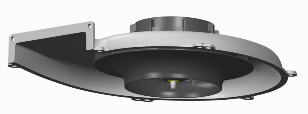 Der Radiallüfter R3G 150 mit EC-Antrieb bietet mit seiner kompakten Bauform auch bei begrenztem Bauvolumen eine hohe Luftförderleistung. Bild: ebm-papst