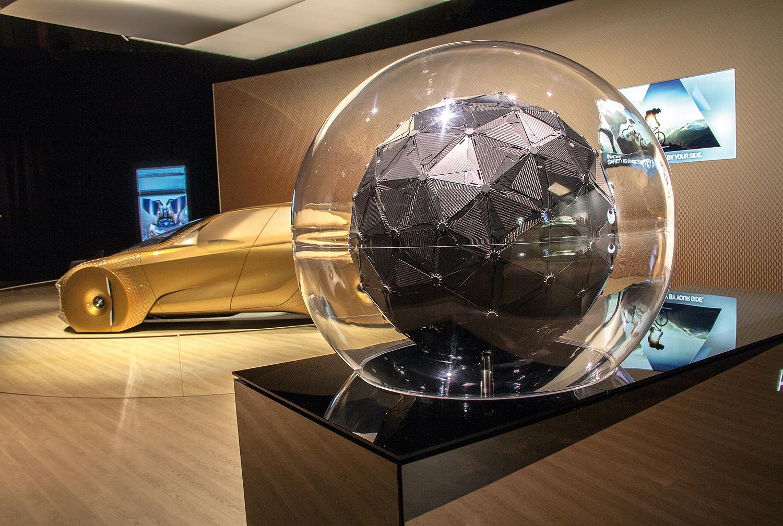 Eingebettet in ein konzentrisches Raumkonzept entstand für jede der Marken ein kinetisch-digitales Exponat, das die Vorstellungskraft des Betrachters anregen soll. Bild: Faulhaber