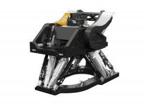 Der Schwerlasthexapod hat sechs zusätzliche und unbelastete, mit Absolutwertgebern ausgestattete Beine, die ausschließlich zur Messung der Position der obersten Plattform dienen. Bild: PI