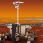 Der ExoMars Rover soll nach der Landung nach biologischen Aktivitäten auf dem Mars suchen. Das Kamerasystem ist auf einem 2 m hohen Mast montiert. Bild: ESA/ATG medialab