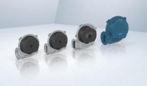 Die neue RadiMix-Baureihe reduziert die bisherige Typenvielfalt der Gasgebläse zwischen 0,5 und 150 kW um gut 20 % Bild: ebm-papst