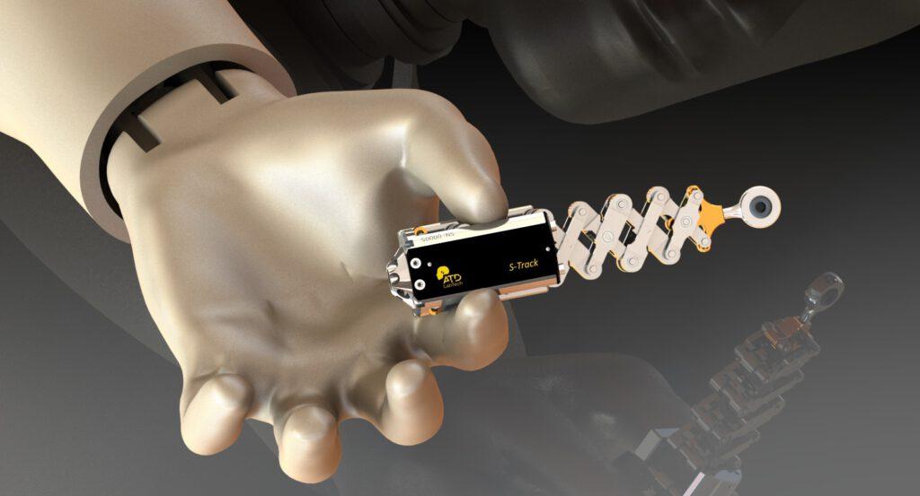 Der S-Track mit seiner Scherenmechanik und dem potentiometrischen Messprinzip verspricht aussagekräftigere Messergebnisse als die heute meist üblichen Infrarot-Lösungen. Bild: ATD-LabTech