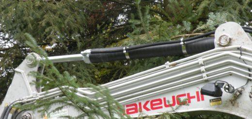 Bei langen Auslegern für Kran oder Bagger bietet die reduzierte Masse der Zylinder deutliche Vorteile. Bild: Mark Hydraulik
