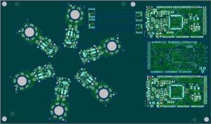 Nutzendefinition per Software (C-LINK DTM): Einzelne Schaltungen werden per Mausklick auf dem Nutzen angeordnet. Rotationen in 0,1 Grad Schritten, Spiegelung sowie Kombinationen aus Spiegelung und Rotation sind ebenso möglich wie das Generieren von Mischnutzen. Bild: Digitaltest
