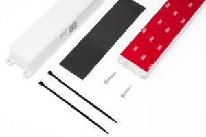 Für jede Antenne gibt es verschiedene Montagevarianten: Kleben, per Magnet oder zum Schrauben. Bild: Welotec