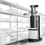Die Magazino GmbH will das erste selbstdenkende und selbsthandelnde Warenlager der Welt schaffen. Mit ihrem Kommissionier-Roboter TORU, der den stückgenauen Zugriff auf einzelne Objekte ermöglicht, kommt sie dieser Vision ein großes Stück näher. Bild: Magazino