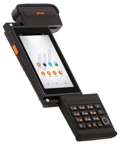 Die ansteckbare Silikontastatur mit 16 Tasten lässt sich wie die anderen Module auch werkzeuglos wechseln. Bild: ACD Elektronik GmbH