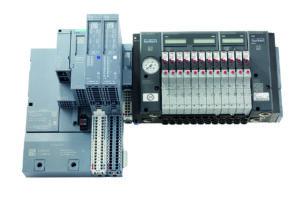 Die Ventilinsel AirLINE SP Typ 8647 ist in die dezentralen Peripheriesysteme SIMATIC ET 200SP und ET 200SP HA integrierbar. Bild: Bürkert Fluid Control Systems