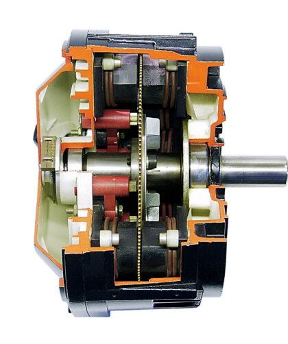 """Der Scheibenläufermotor nach dem Prinzip des """"Barlow'schen Rades"""" war in den 70er Jahren der Motor in der Automatisierungstechnik schlechthin. Bild: Mattke"""