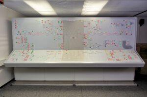 Das Manual Switching Panel in klassischer Mosaikbauform ist extrem robust und obendrein auch in seiner Übersichtlichkeit nicht zu überbieten. Urheber: DLR